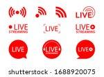 live streaming logo   red... | Shutterstock .eps vector #1688920075