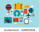 travel template vector...   Shutterstock .eps vector #168892808