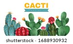 cacti colored background... | Shutterstock .eps vector #1688930932