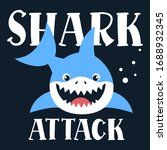 Shark Attack Boy Vector...