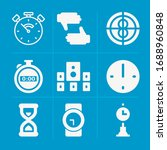 filled watch 9 vector icons set....