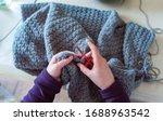 Woman's Hands Crochet...