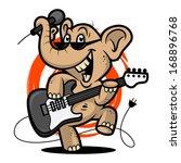 Elephant Plays Guitar