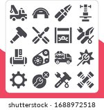 collection of 16 mechanic...   Shutterstock . vector #1688972518