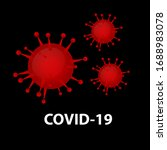corona virus red illustration... | Shutterstock .eps vector #1688983078