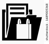 folder and e commerce icon.... | Shutterstock .eps vector #1689005368
