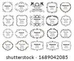 calligraphic design elements .... | Shutterstock .eps vector #1689042085