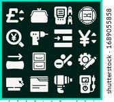 set of 16 icons filled icons... | Shutterstock . vector #1689055858
