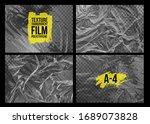 set of texture a 4 transparent... | Shutterstock .eps vector #1689073828