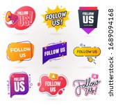 follow us sign collection.... | Shutterstock .eps vector #1689094168