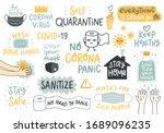 coronavirus covid 19 letterings ... | Shutterstock .eps vector #1689096235
