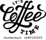 it's coffee time vector... | Shutterstock .eps vector #1689135355