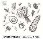 collection of vegetables. eco... | Shutterstock .eps vector #1689175708