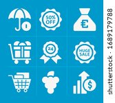 filled market 9 vector icons...