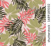 abstract seamless tropical... | Shutterstock .eps vector #1689185032