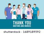 covid 19 spread of the virus.... | Shutterstock .eps vector #1689189592