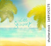 summer. tropical beach... | Shutterstock .eps vector #1689192175