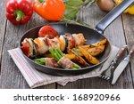 Fried Skewer With Turkey Meat...
