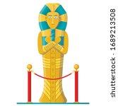 pharaoh mummy cartoon. ancient... | Shutterstock .eps vector #1689213508