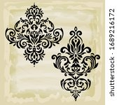 rococo texture pattern vector.... | Shutterstock .eps vector #1689216172