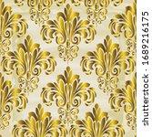 rococo texture pattern vector.... | Shutterstock .eps vector #1689216175