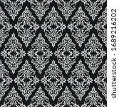 rococo texture pattern vector.... | Shutterstock .eps vector #1689216202