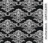 rococo texture pattern vector.... | Shutterstock .eps vector #1689216205