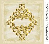 rococo texture pattern vector.... | Shutterstock .eps vector #1689216232