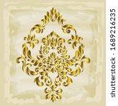 rococo texture pattern vector.... | Shutterstock .eps vector #1689216235