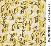 rococo texture pattern vector.... | Shutterstock .eps vector #1689216238