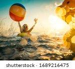 Happy Child Having Fun On...