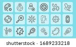 contagious line icon set on... | Shutterstock .eps vector #1689233218