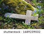 Old Cemetery Broken Cross...