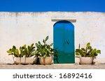 Blue Door And Cactus In Apulia...
