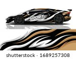 sports car wrapping decal design | Shutterstock .eps vector #1689257308