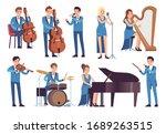 classic musicians. singers... | Shutterstock .eps vector #1689263515