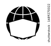 icon of globe in face mask....   Shutterstock .eps vector #1689270322