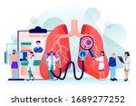 pulmonology concept. diseases ... | Shutterstock .eps vector #1689277252