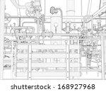industrial equipment. wire... | Shutterstock .eps vector #168927968