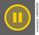 pause button media menu  pause... | Shutterstock .eps vector #1689303568
