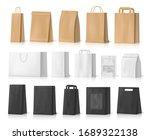 paper bag mockups of shopping ... | Shutterstock .eps vector #1689322138