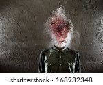a man's head exploding. there... | Shutterstock . vector #168932348