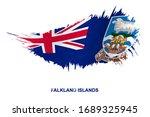 flag of falkland islands in... | Shutterstock .eps vector #1689325945