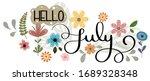 hello july. july month vector... | Shutterstock .eps vector #1689328348