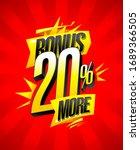 bonus 20  more  sale banner... | Shutterstock . vector #1689366505