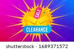 clearance sale icon. flare... | Shutterstock .eps vector #1689371572