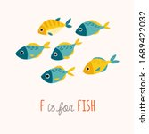 Tropic Blue And Yellow Fish...