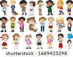 large set of children doing... | Shutterstock .eps vector #1689423298