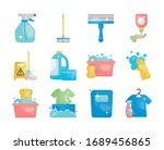 buckets and disinfection and...   Shutterstock .eps vector #1689456865