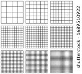 set square grid  with different ... | Shutterstock .eps vector #1689510922